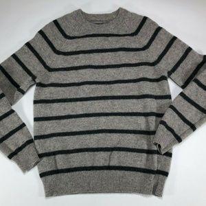 Express Womens Lambs Wool Gray & Black Long Sleeve